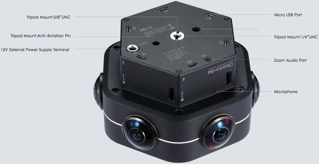 KanDao Obsidian - Professional 360 Camera | 3D Video Camera