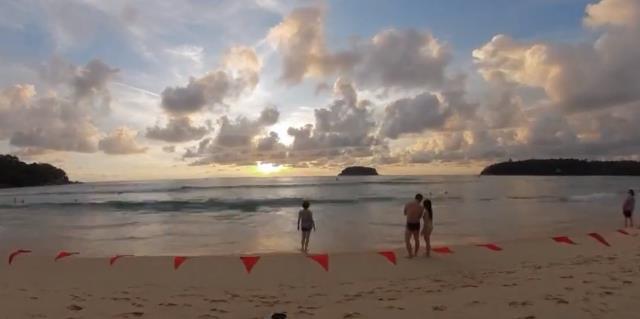 海边落日(延时摄影)